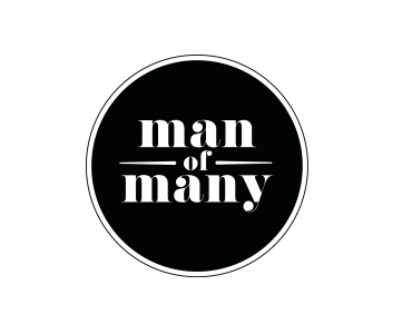 man of many logo, man of many, male blog logo